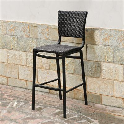 International Caravan 4215-CH Barcelona Outdoor Bar Stool (Set of 2)