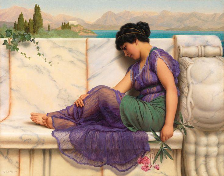 The Athenaeum - Summer Idleness, Day Dreams (John William Godward - )