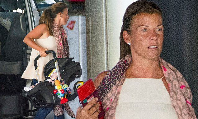 Coleen Rooney juggles the luggage and her three sons