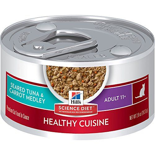 Hills Science Diet Adult 11 Healthy Cuisine Seared Tuna  Carrot Medley Canned Cat Food 28 oz 24pack ** Want additional info? Click on the image.