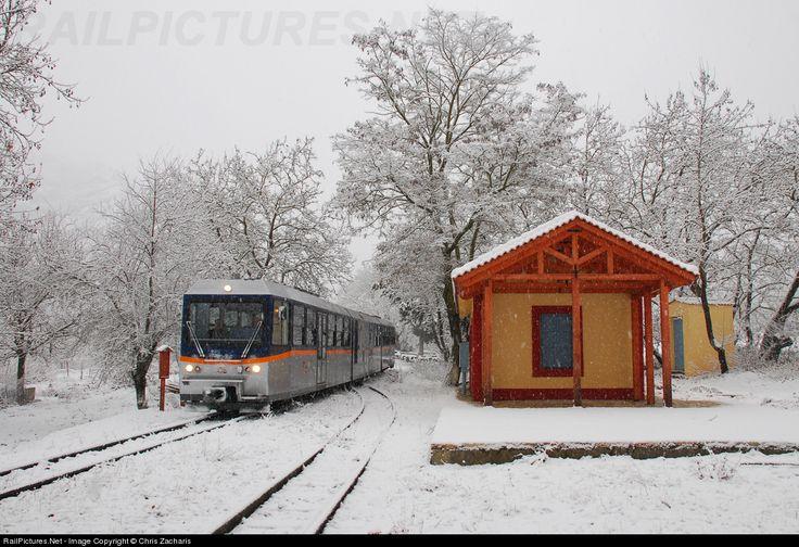 RailPictures.Net Photo: 3108 OSE Hellenic Railways Stadler at Kalavrita, Greece by Chris Zacharis