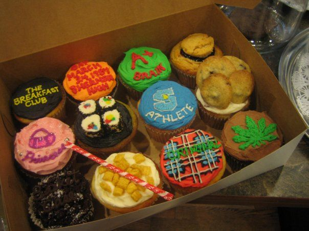 Breakfast Club-inspired cupcakes.  Awesome!