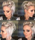 D M I D I A - Dica de cabelo curto: novo estilo de cabelo meio preso #wjmwilsonmoura