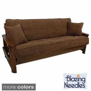 Shop for Blazing Needles Solid Chenille Double-corded Futon Cover Set with Two Throw Pillows. Get free delivery at Overstock.com - Your Online Home Decor Store! Get 5% in rewards with Club O! - 16011012