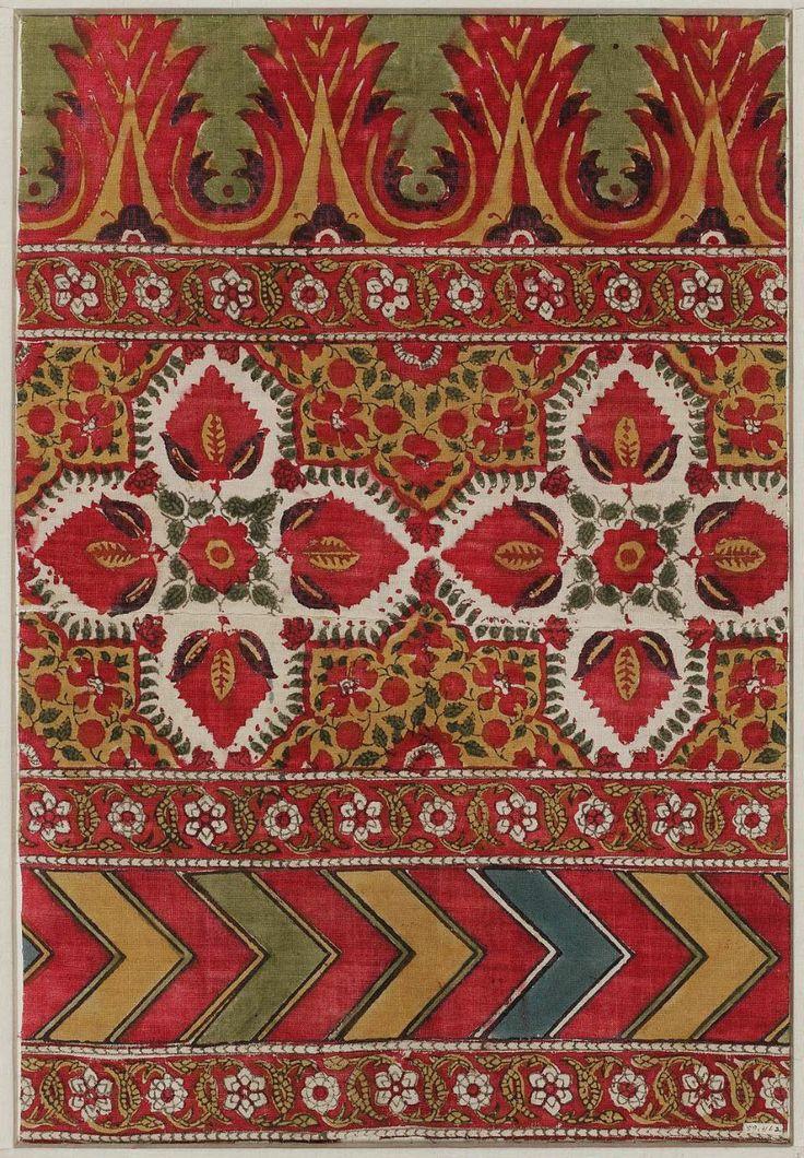 Fragment of tent-lining (Shanirana) Indian (Punjabi), 19th century