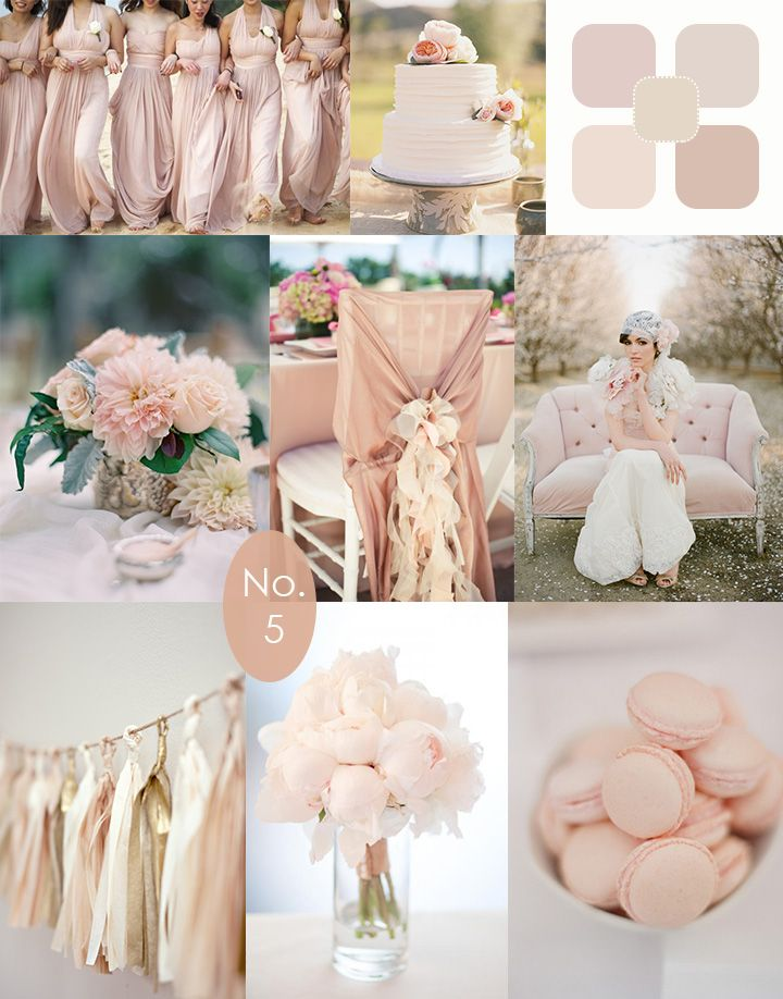 Mariage : pastel, rose, bouquets, déco