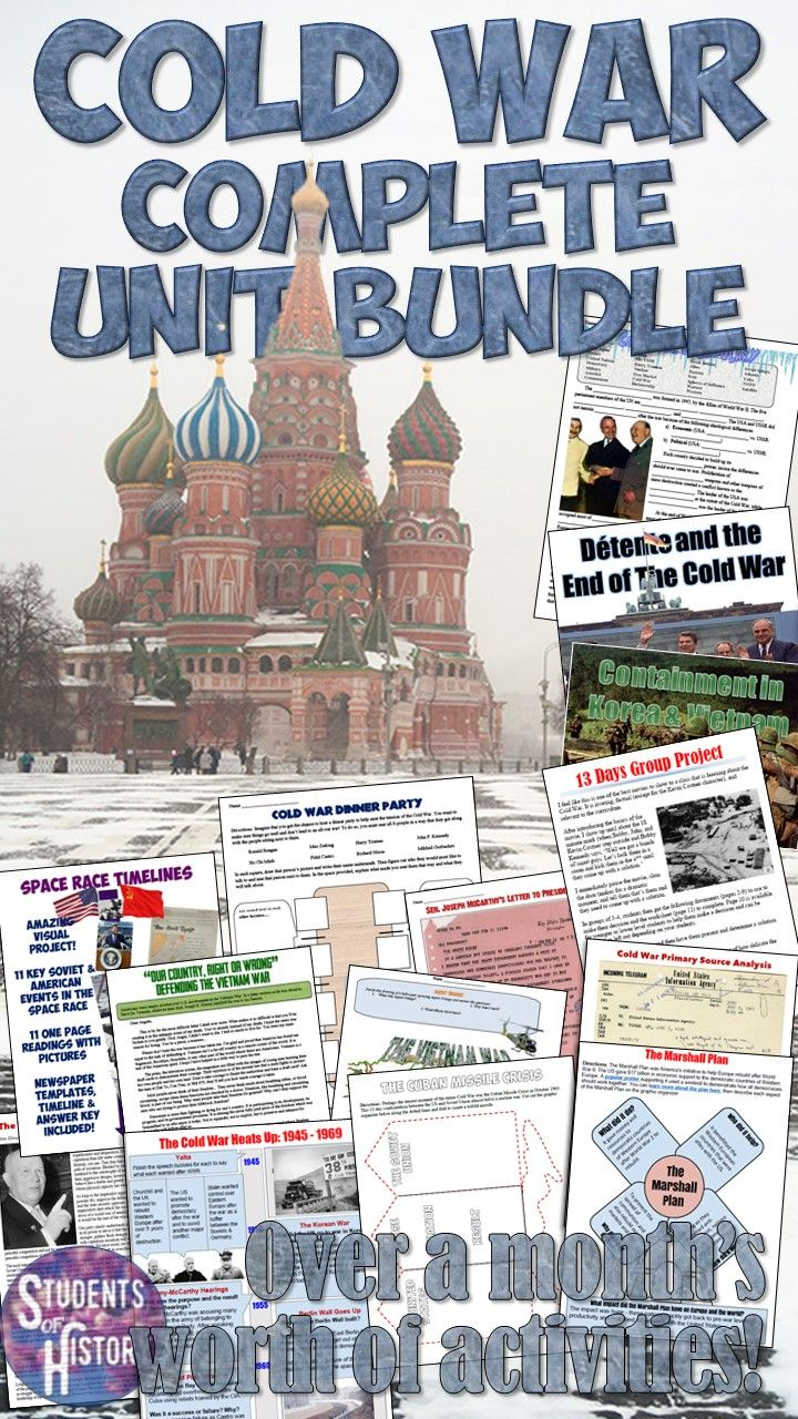 Activities and lesson plans for the Cold War! A complete bundle with 30+ activities