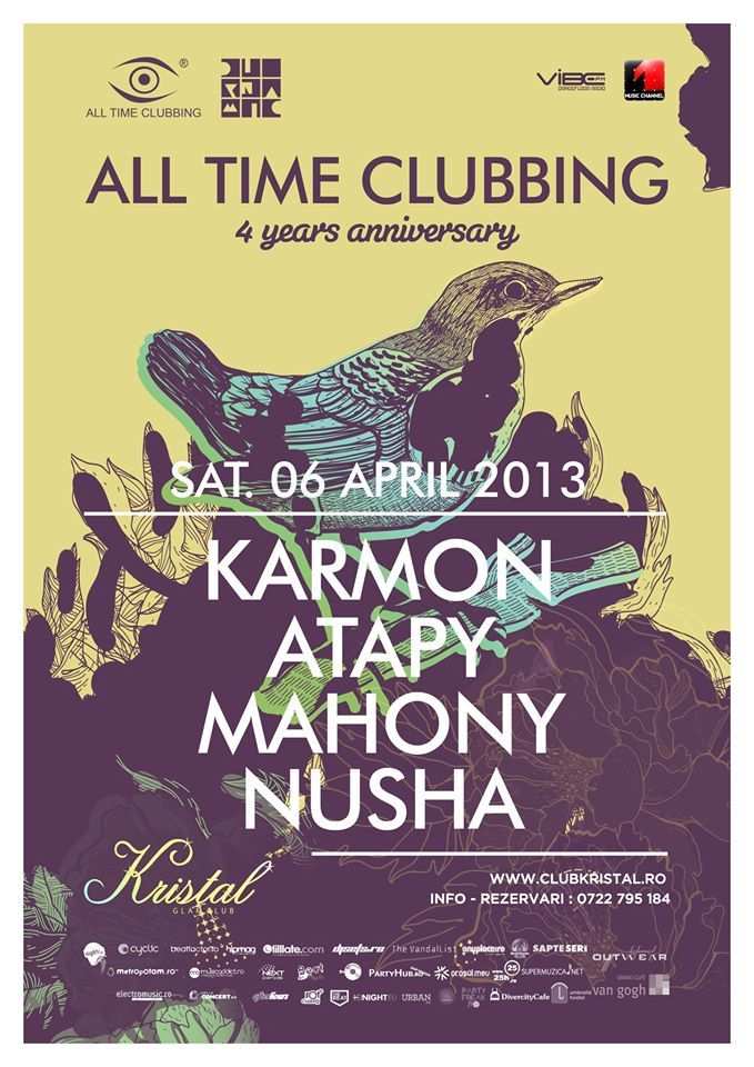 Alltimeclubbing 4th anniversary with Karmon at Kristal Glam Club Bucharest