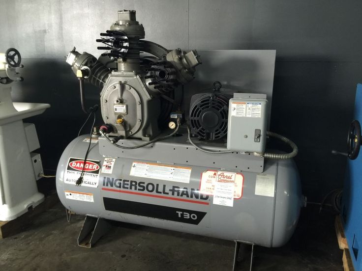 Ingersoll Rand Air Compressor T 30 15hp 120 Gallong Tank