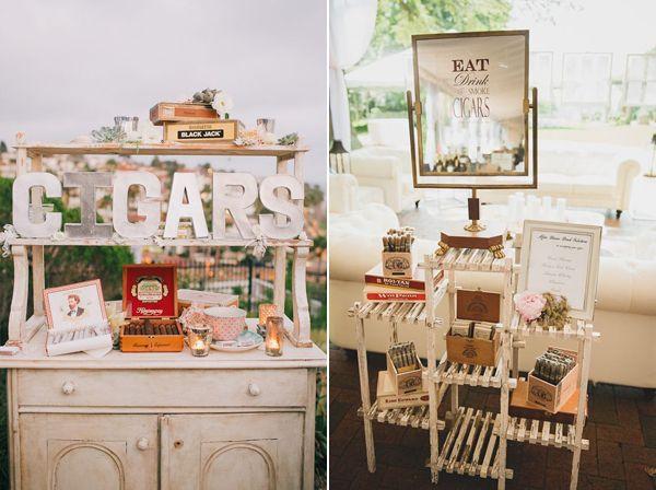 Zigarren Bar Ideen für Hochzeiten und Partys