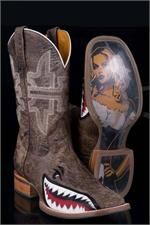 Tin Haul Boots for Men Gnarly Shark Cowboy Boots.      Matching ones for my and the hubby!
