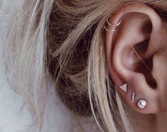 Cirkel oorbellen  Sterling zilveren oorbellen door WildFawnJewellery