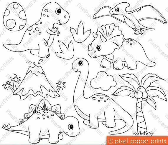 desenhos de dinossauros para colorir dinossauros jardim2