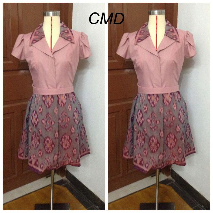 Pink tenun dress by CMD. #tenun/ikatbali