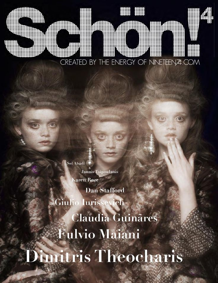 """Schön! 4  Here we go , Schön! Magazine 4.  Ghosts, spirits and the unknown entice you in. With paranormal activities behind the scenes, the mystical embodies this issue from start to finish. The haunted pursue the living, and the living try to escape from the tormented.  Out of this world photography on our cover from Dimitris Theocharis, with the unearthly shoot innovatively showcasing the 6 continents of the world featuring in full inside this issue of Schön! Magazine. """"The Beyond"""", styled…"""