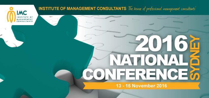 Institute of Management Consultants - National Conference 2016. 13-15 Nov. https://www.imc.org.au/events/national-conference-2016  #sydney #ausbiz #innovation #consultant #business #entrepreneur