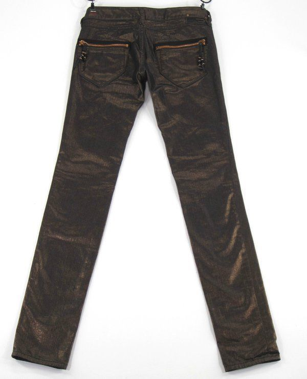 40dcd407 89.00 | Diesel Clush Zipper Pocket Skinny Jeans Metallic Copper 8HX Colored Denim  Fit 25