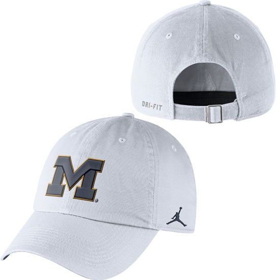 10cb987083a ... where to buy coupon code for jordan university of michigan white  unstructured authentic dri fit hat ...