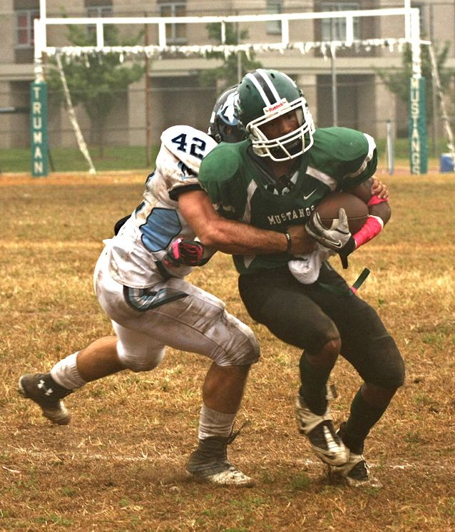 SPORTS  BRONX, NEW YORK, OCTOBER 9- In need of a win, Truman High School hosted the winless John Adams High School on a misty and soggy Sunday afternoon.      https://sites.google.com/site/bronxnews/