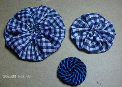 cmo hacer una diadema con una flor de tela