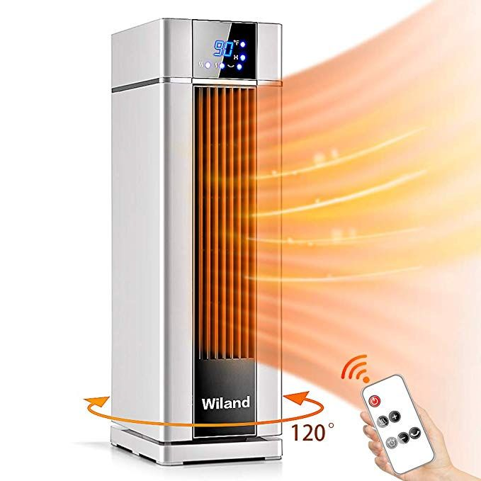 Amazon Com Space Heater With Remote Control Lcd Ceramic Tower Heater 120 Oscillating 1500w Fast He Ceramic Heater Tower Heater Space Heater