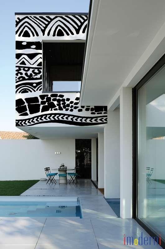 34 besten Modern Outdoor Wall Paper Bilder auf Pinterest - boden und wandgestaltung in weis modern haus
