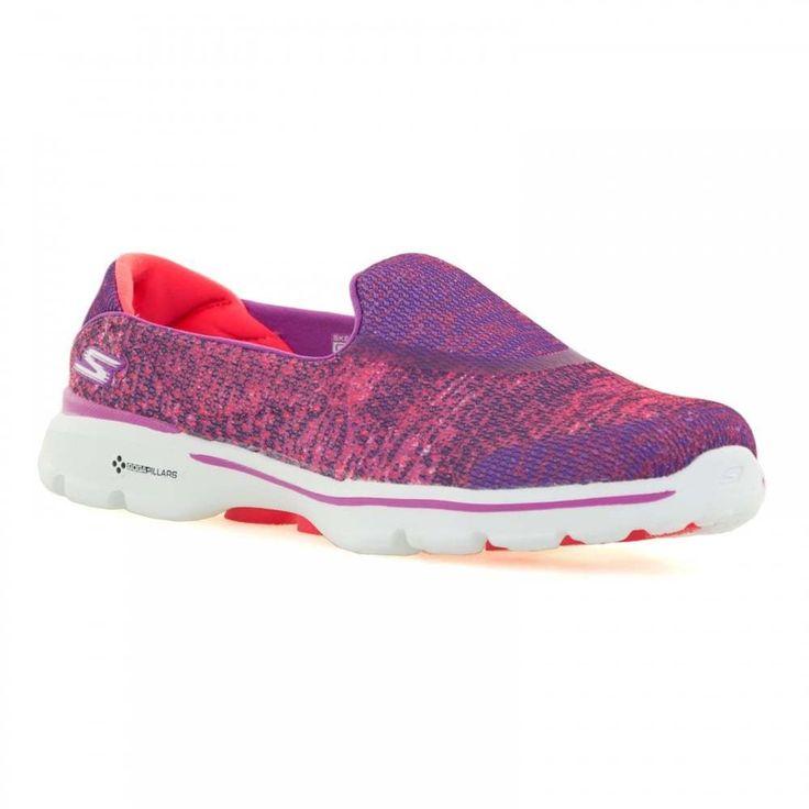 Skechers Womens Go Walk 3 Glisten Trainers (Pink)