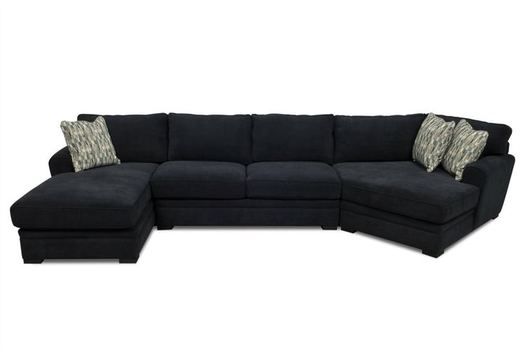 Sectional with chaise cuddle corner house ideas for Black microfiber chaise