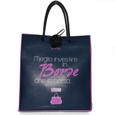 LE PANDORINE BORSA Shopping bag Sa.bo. in opaque pvc with double handles in twisted faux leather. http://www.fratinardi.it/brands/bags-and-accessories/le-pandorine/le-pandorine-bag-13517.html