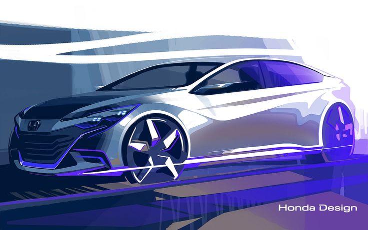 Honda 2014 Concept preview design sketch