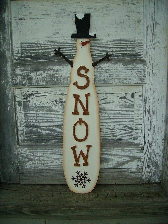 Wooden Primitive Snowman Wall Hanging | DIY Crafts | Pinterest