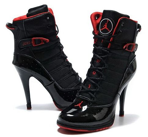 Nike Air Jordan 6 Rings High Heels Black Red