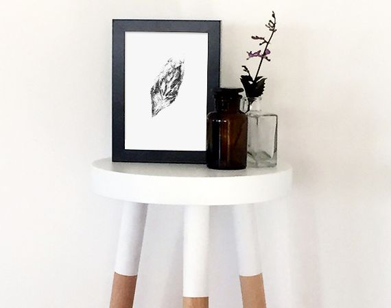 leaf print poster