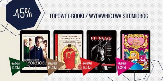 Kupony Promocyjne ePartnerzy.com - ebooki, eprasa, audiobooki - prezenty, promocje, rabaty: Topowe e-booki z wydawnictwa Siedmioróg - o 45% ta...