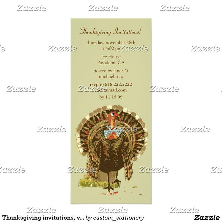 Thanksgiving invitations, vintage thanksgiving