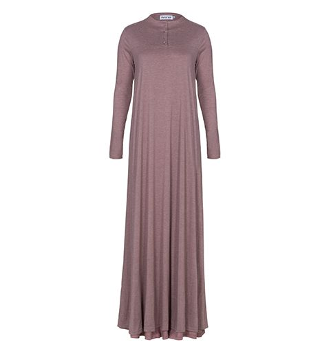 Dusty Blush High Neck Cotton Abaya - £54.99 : Inayah, Islamic Clothing & Fashion, Abayas, Jilbabs, Hijabs, Jalabiyas & Hijab Pins