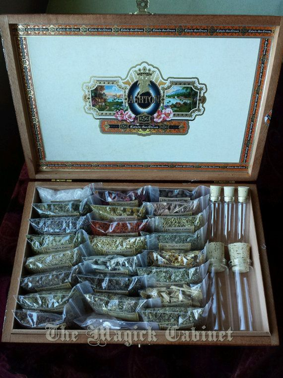 This is a wonderful witch's herb kit for the beginner to Witchcraft or a seasoned witch.