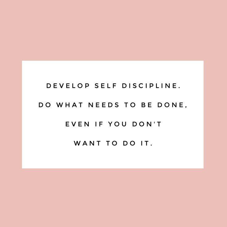 Resultado de imagen para develop self discipline