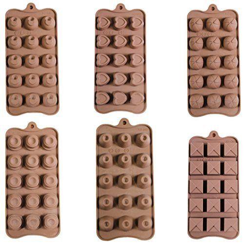 Set di 6 Stampini flessibili in silicone cioccolata caramelle cubi di ghiaccio…