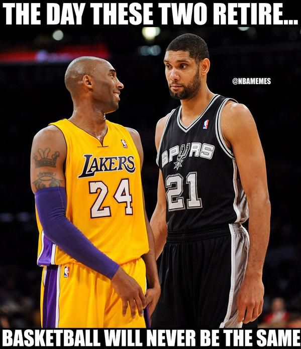It will be a sad day when Kobe & Tim Duncan retire - http://nbafunnymeme.com/nba-memes/it-will-be-a-sad-day-when-kobe-tim-duncan-retire