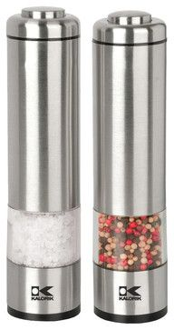 Salt and Pepper Grinder Set - contemporary - Salt And Pepper Shakers And Mills - Kalorik