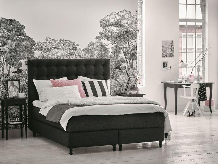 17 beste idee n over ikea slaapkamer wit op pinterest ikea slaapkamer ikea slaapkamer ontwerp - Bed na capitonne zwarte ...