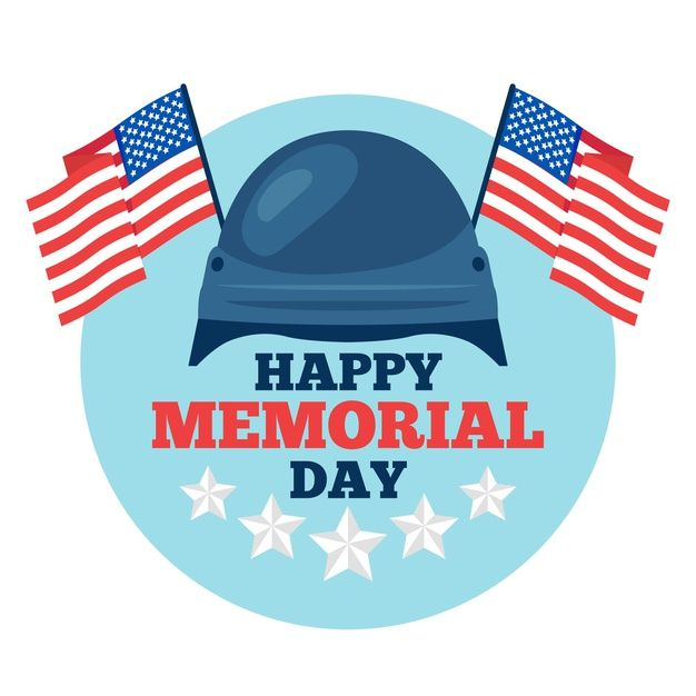 Download Flat Design Happy Memorial Day For Free Happy Memorial Day Memorial Day Print Design Template