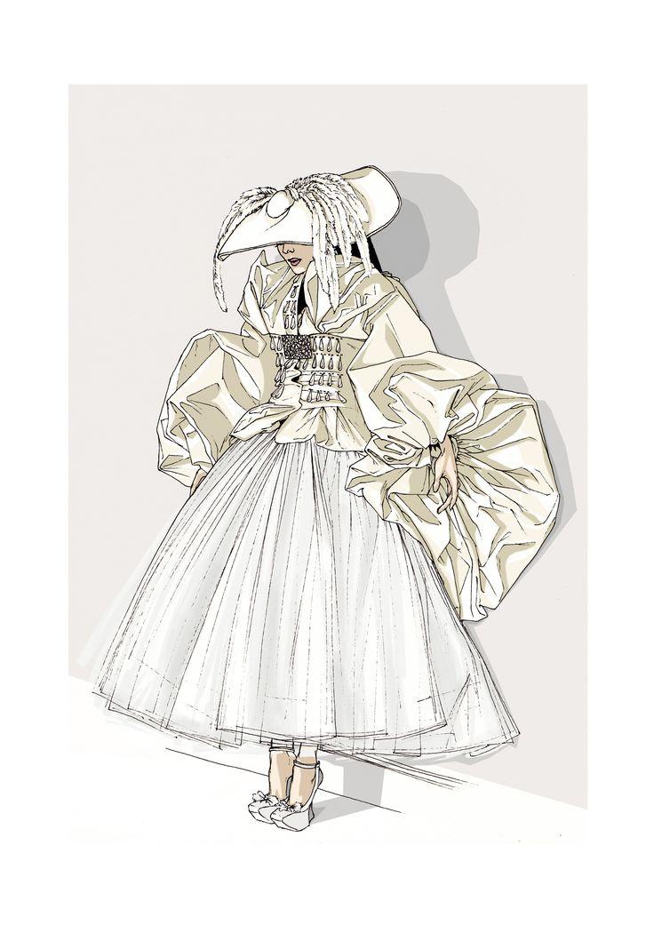 Vogue Dior Haute Couture fw 07/08 | elenapaoletti_illustrations | digitalcolor