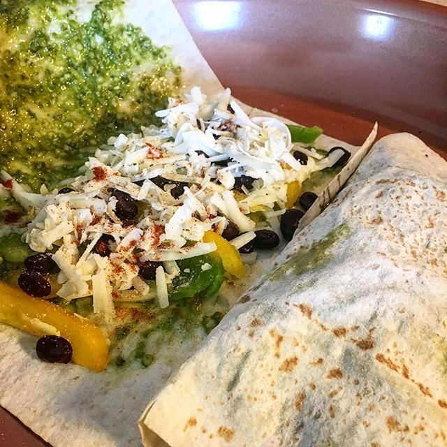 Black bean quesadilla's for #lunch! #itswhatsforlunch #trueformlife