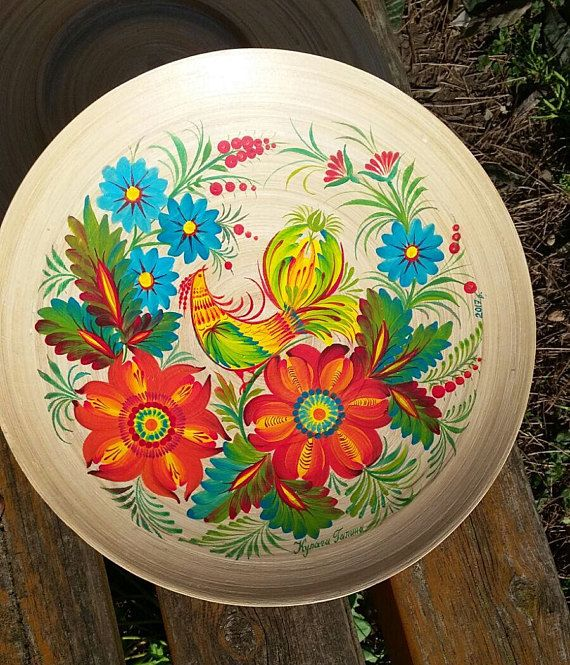Check out this item in my Etsy shop https://www.etsy.com/uk/listing/556775450/plate-bamboo-hand-painted-ukrainian