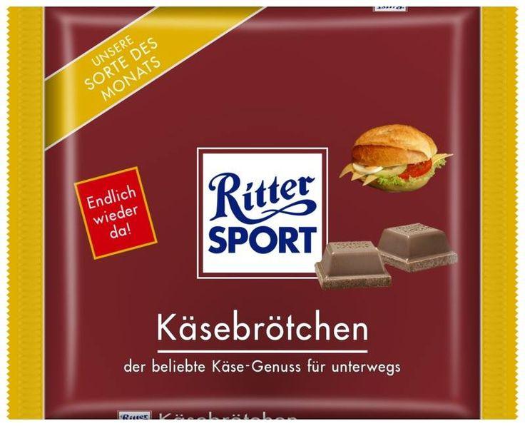 RITTER SPORT Fake Schokolade Sorte Käsebrötchen