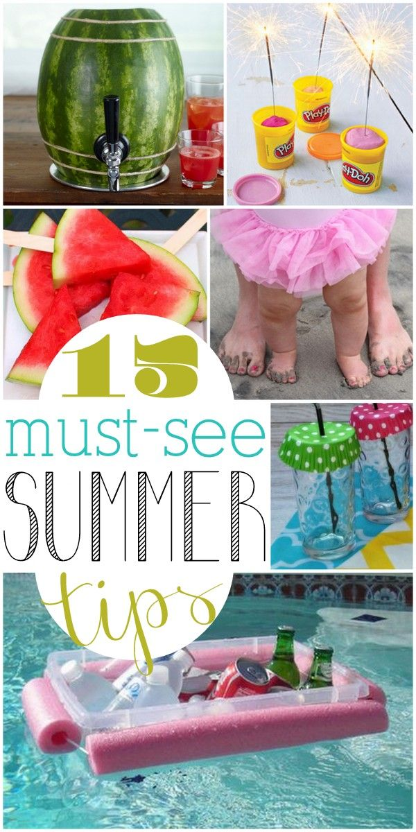 The ideas in this list of summer tips are seriously brilliant! I can't wait to try them all!: Brilliant Summer, 15 Brilliant, Positive Splendid, Splendid Crafts, Home Decor, Serious Brilliant, Neat Ideas, Tips, Summer Ideas