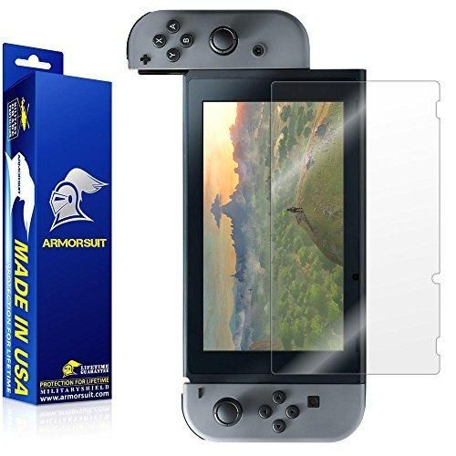 ArmorSuit - Nintendo Switch Screen Protector [Full Coverage] MilitaryShield For Nintendo Switch Lifetime Replacement Anti-Bubble Ultra HD Clear