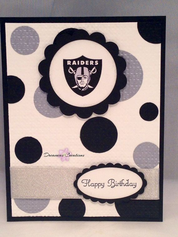 Great for any Oakland Raiders fan. This birthday card made with Stampin' Up products. on Etsy, $4.00